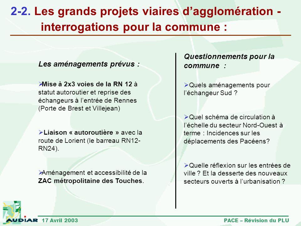 2-2. Les grands projets viaires d'agglomération -