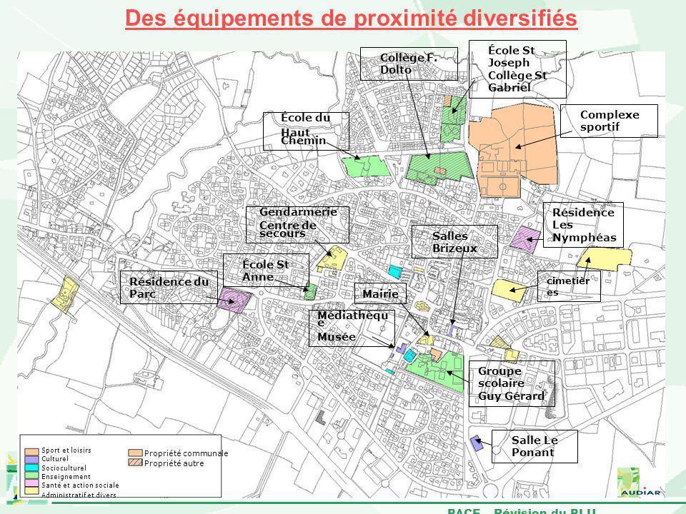 Des équipements de proximité diversifiés