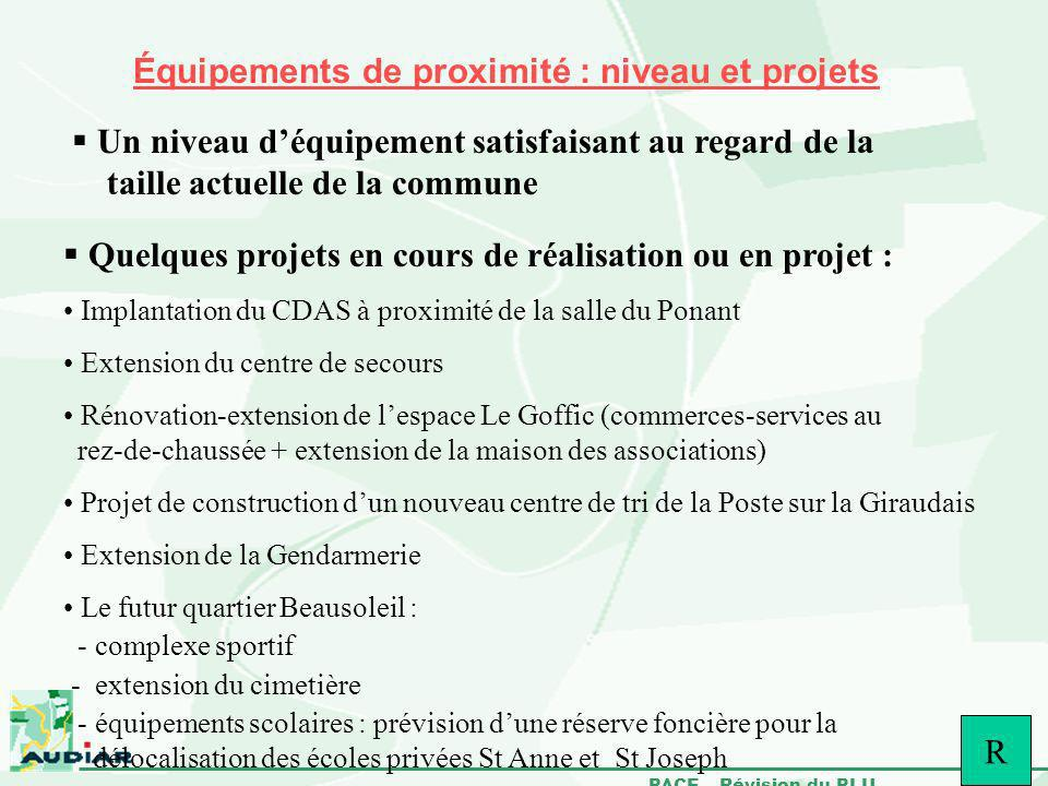 Équipements de proximité : niveau et projets