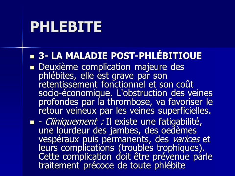 PHLEBITE 3- LA MALADIE POST-PHLÉBITIOUE