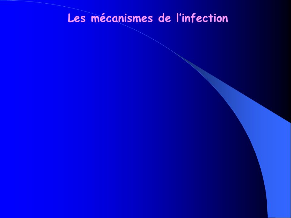 Les mécanismes de l'infection