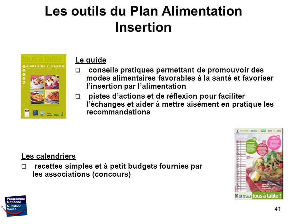 Les outils du Plan Alimentation Insertion