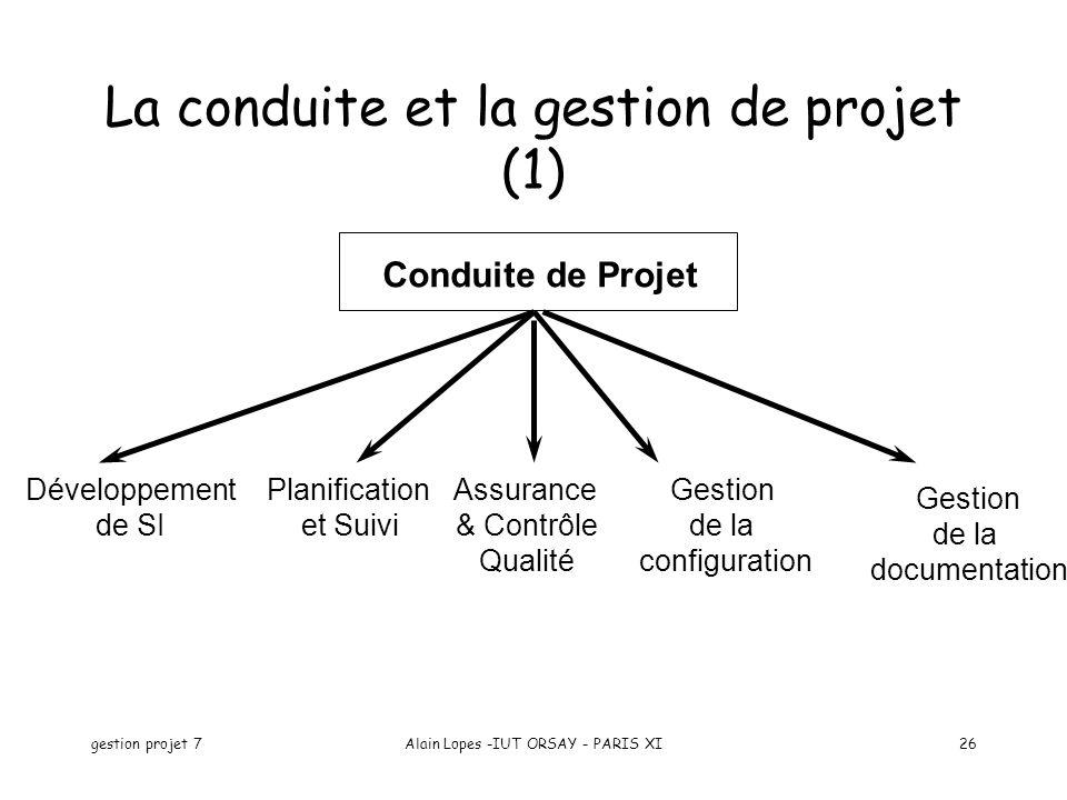 La conduite et la gestion de projet (1)