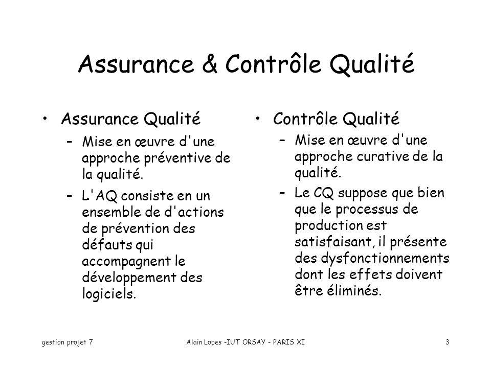 Assurance & Contrôle Qualité