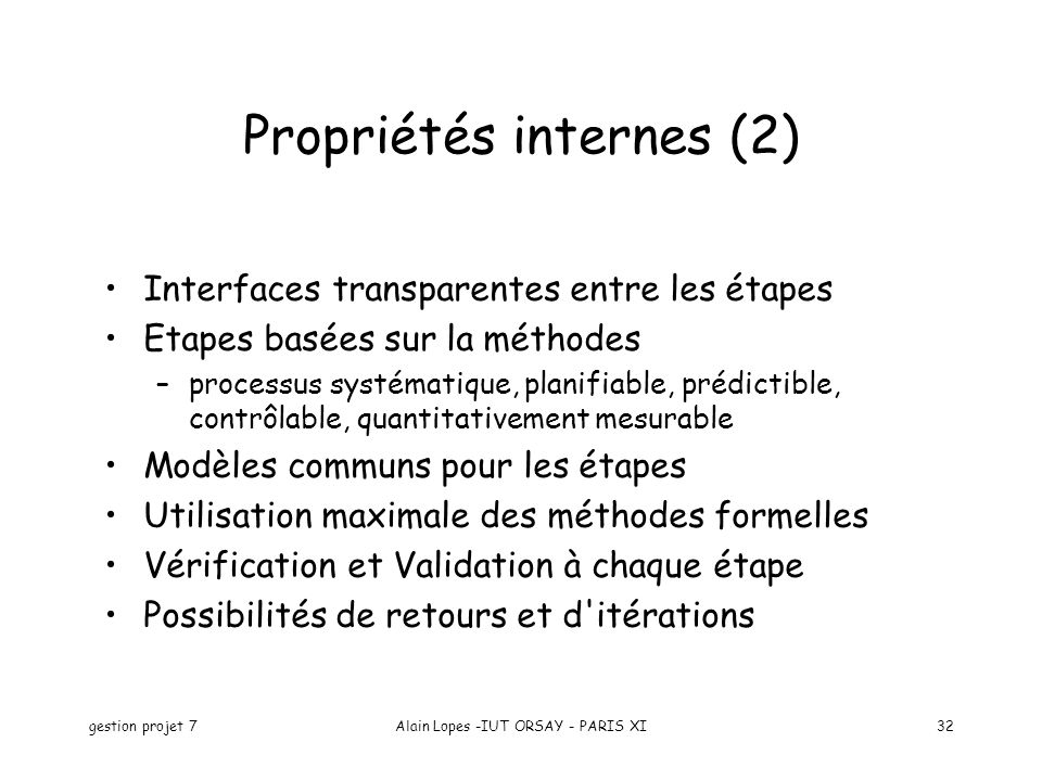 Propriétés internes (2)