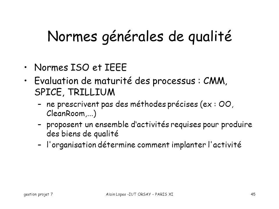 Normes générales de qualité