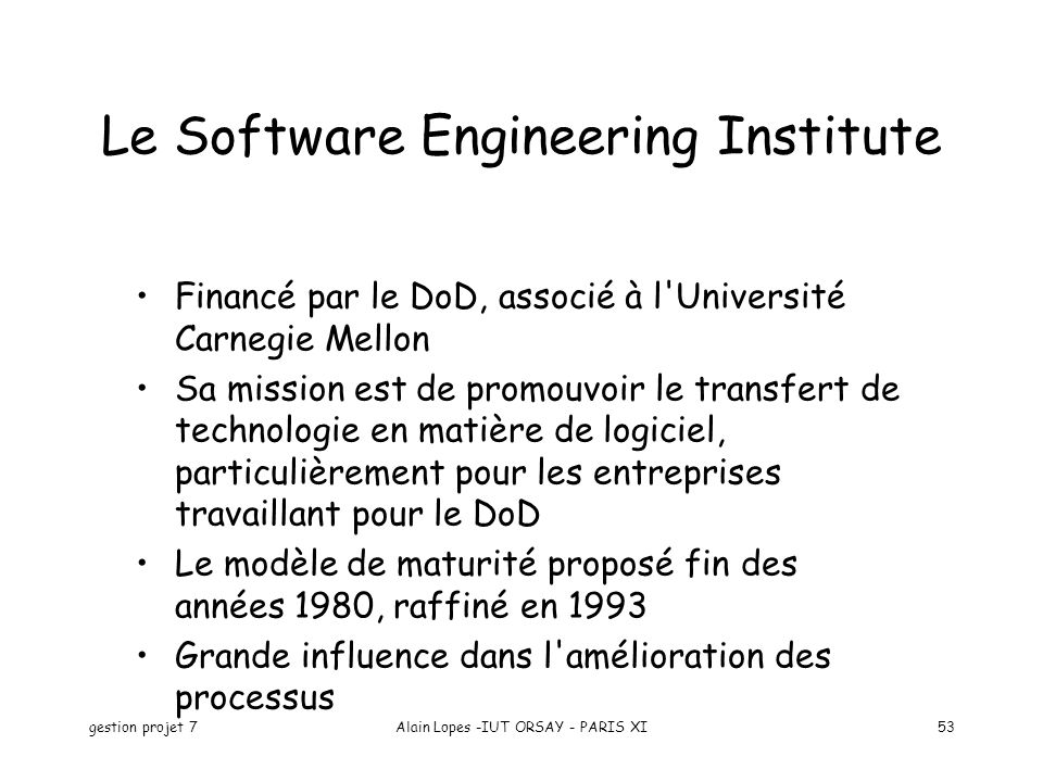 Le Software Engineering Institute