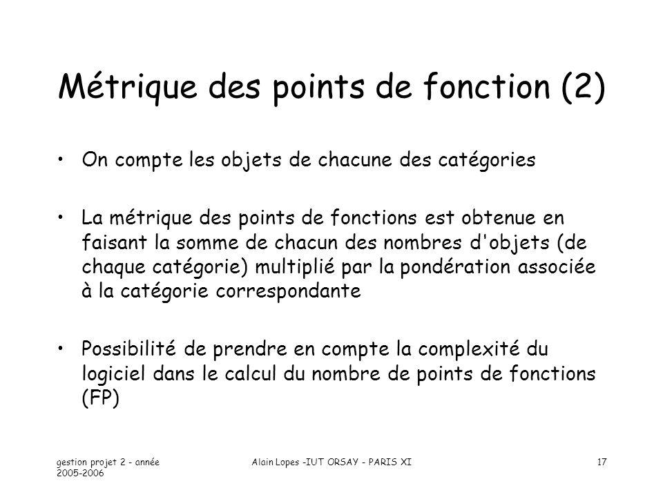 Métrique des points de fonction (2)