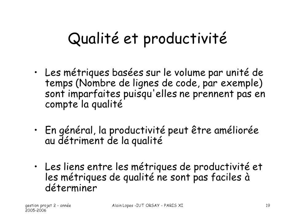 Qualité et productivité