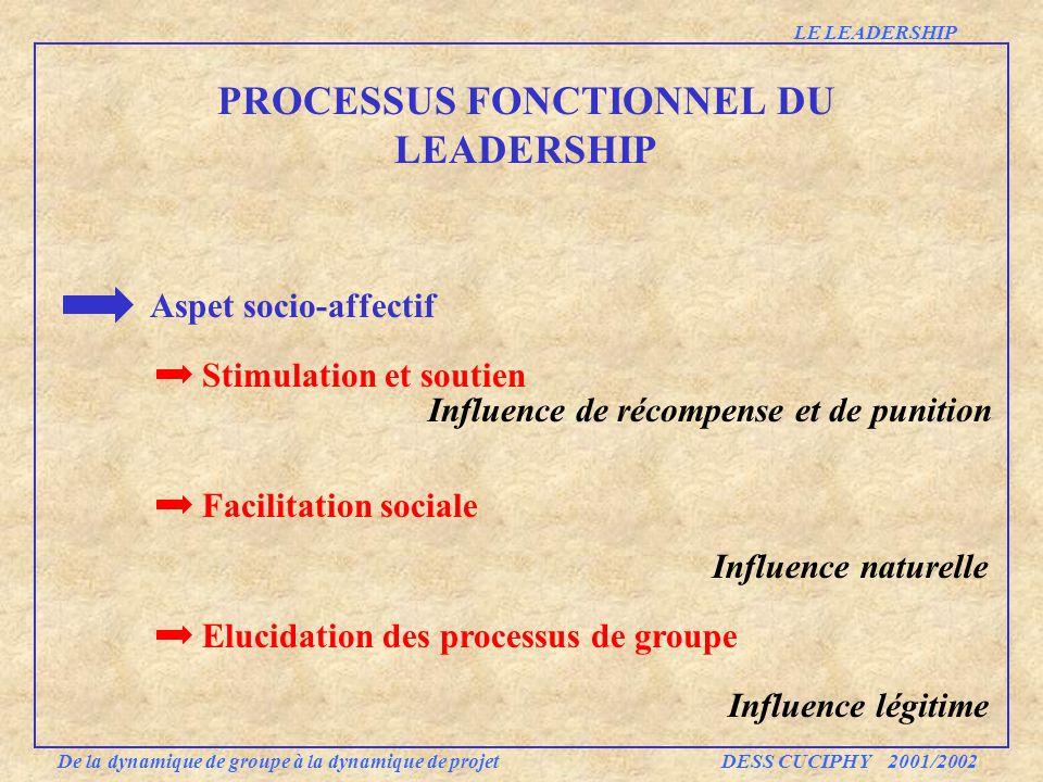 PROCESSUS FONCTIONNEL DU LEADERSHIP