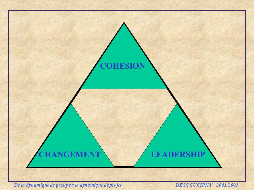 COHESION CHANGEMENT LEADERSHIP