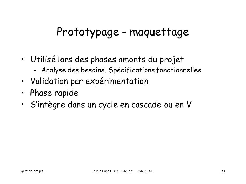 Prototypage - maquettage