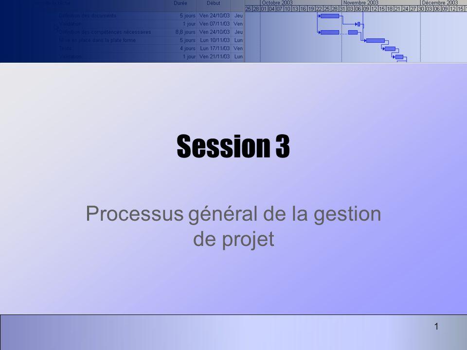 Processus général de la gestion de projet