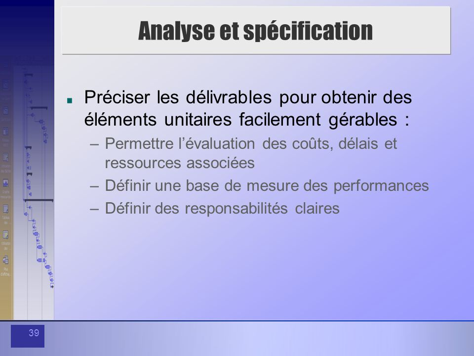 Analyse et spécification