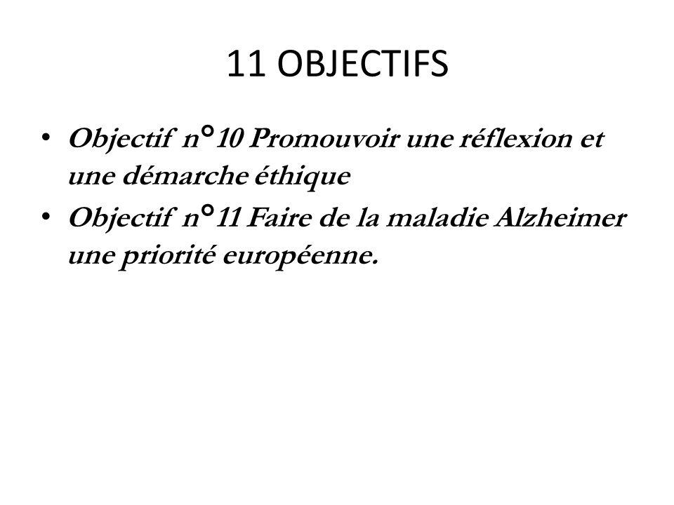 11 OBJECTIFS Objectif n°10 Promouvoir une réflexion et une démarche éthique.
