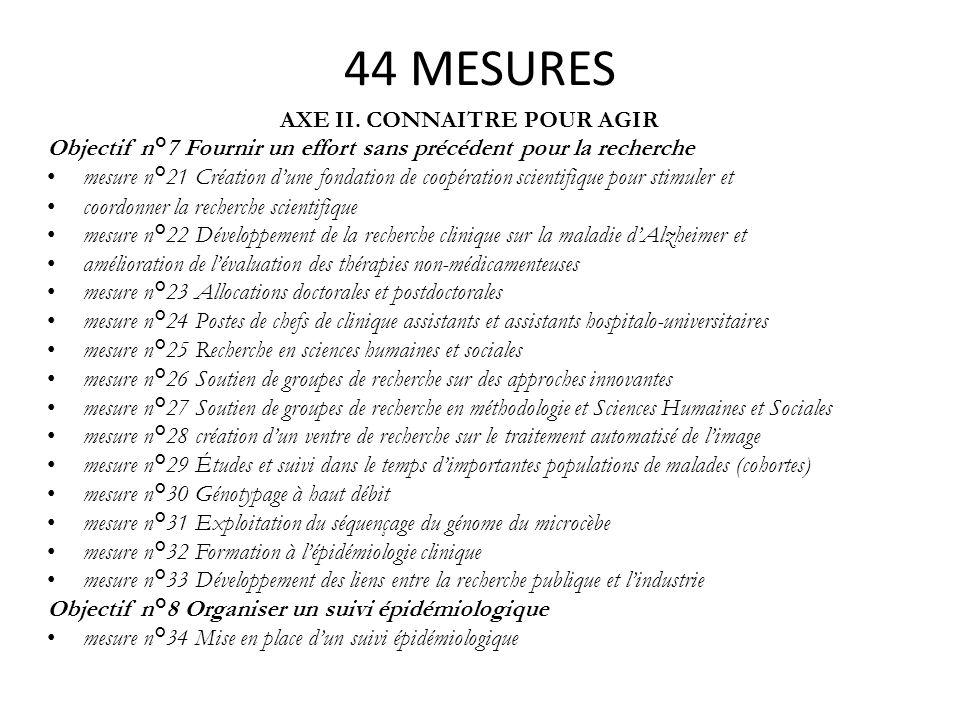 AXE II. CONNAITRE POUR AGIR