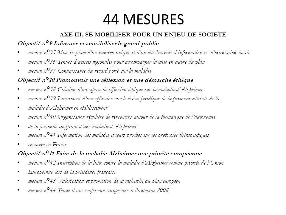 AXE III. SE MOBILISER POUR UN ENJEU DE SOCIETE