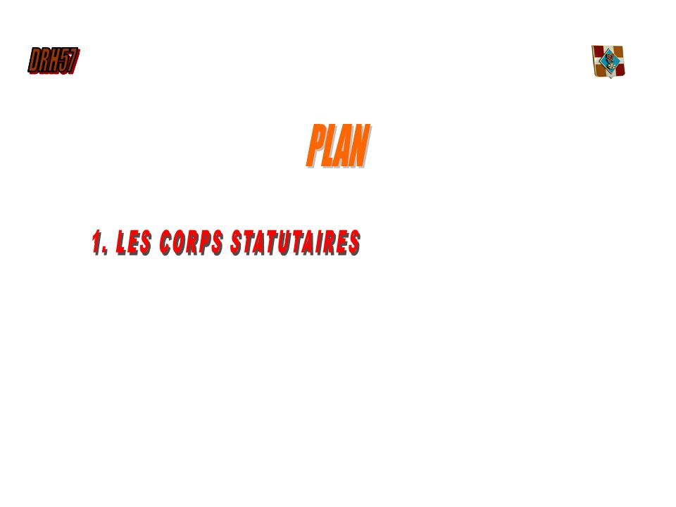 DRH57 PLAN 1. LES CORPS STATUTAIRES