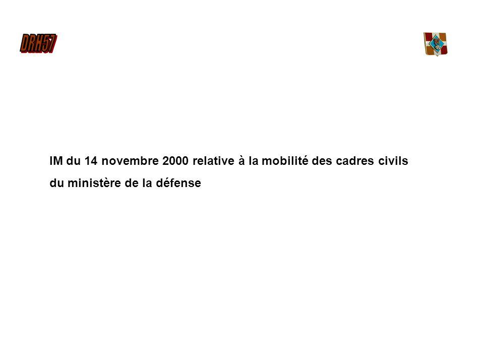 IM du 14 novembre 2000 relative à la mobilité des cadres civils