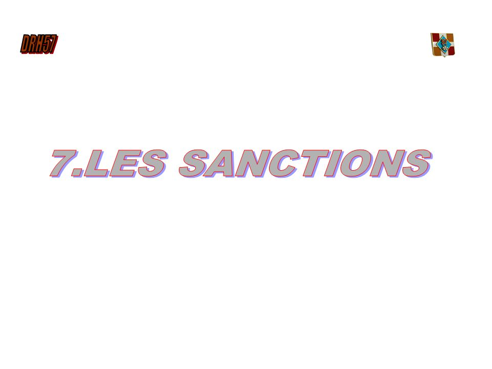 7.LES SANCTIONS