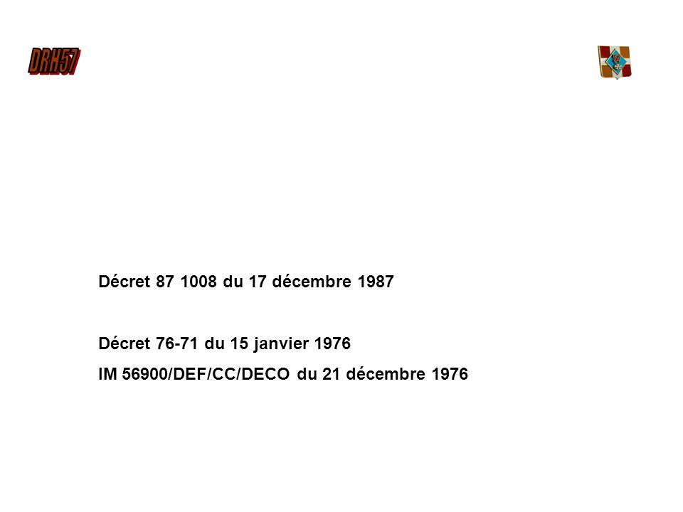 Décret 87 1008 du 17 décembre 1987 Décret 76-71 du 15 janvier 1976.