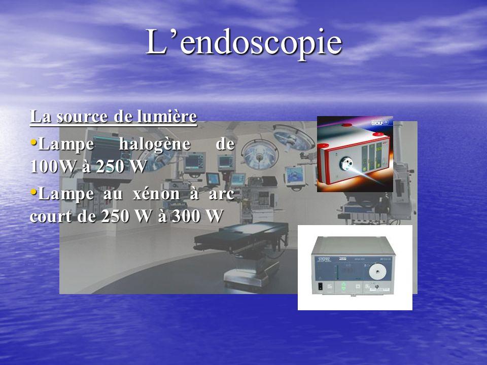 L'endoscopie La source de lumière Lampe halogène de 100W à 250 W