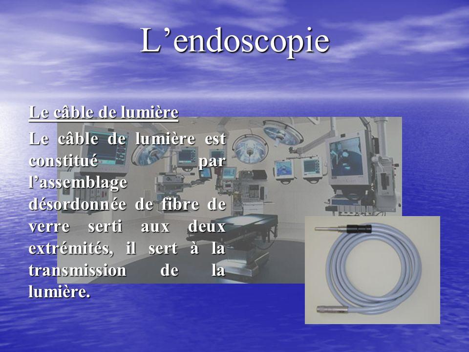 L'endoscopie Le câble de lumière