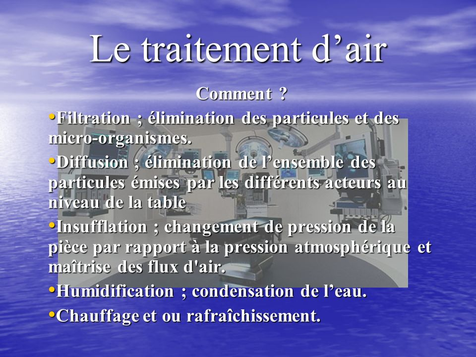 Le traitement d'air Comment