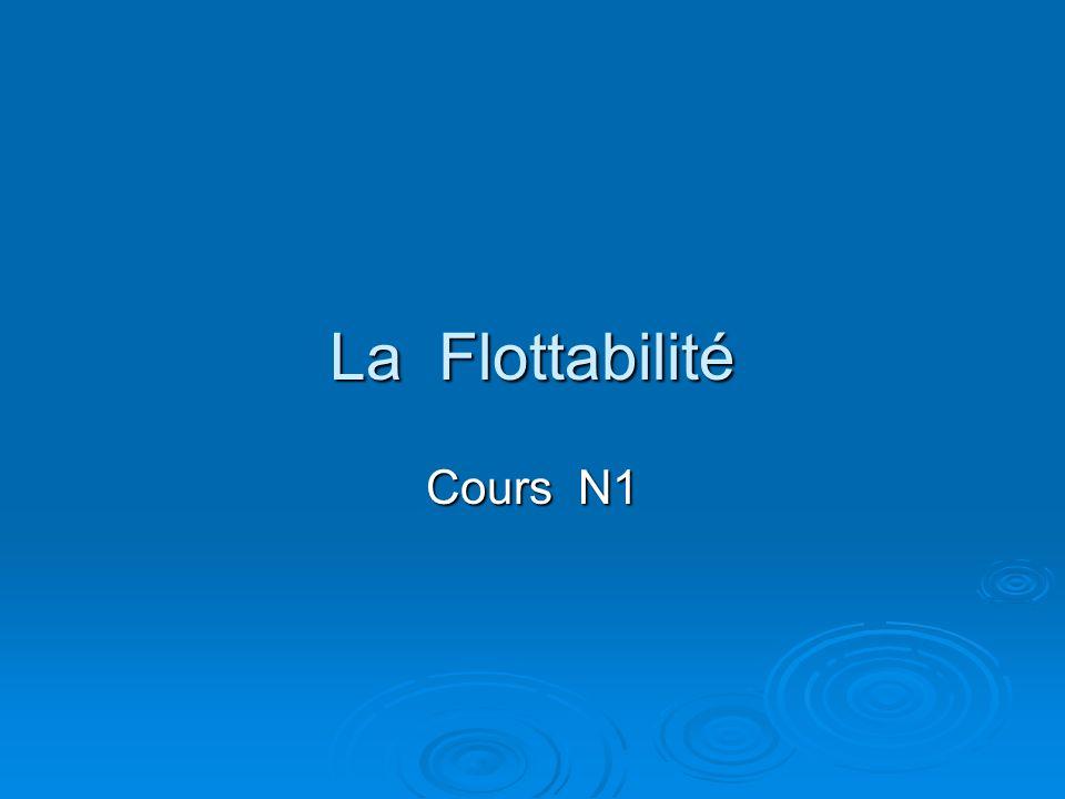 La Flottabilité Cours N1