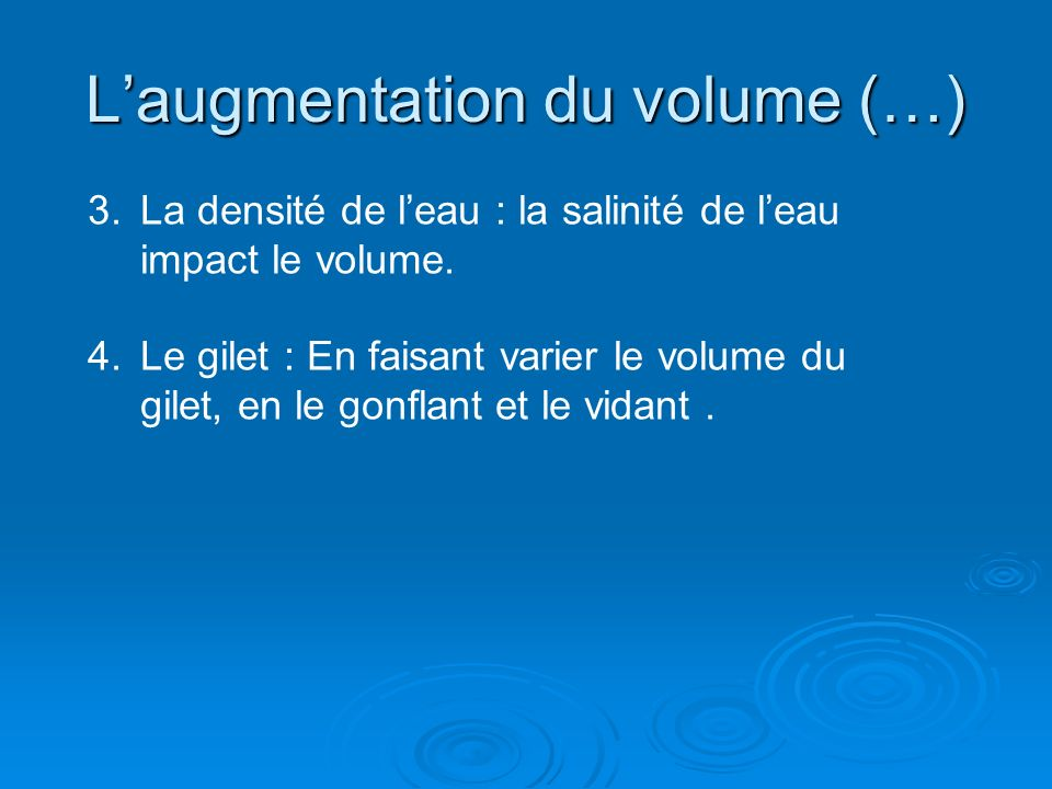 L'augmentation du volume (…)