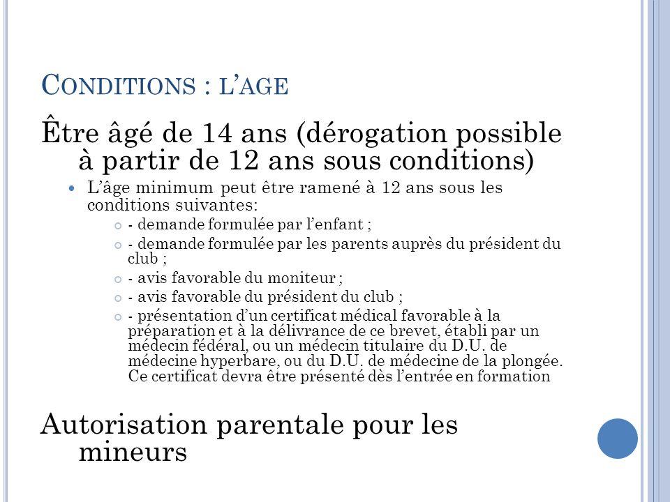 Autorisation parentale pour les mineurs