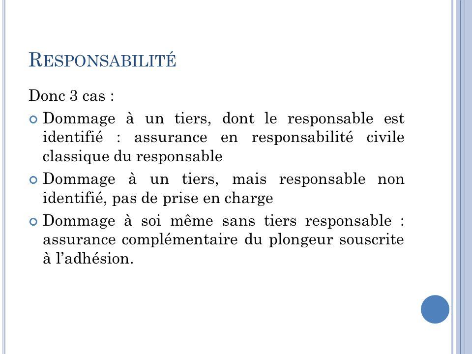 Responsabilité Donc 3 cas :