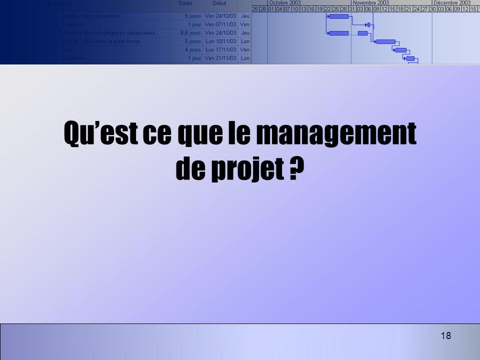 Qu'est ce que le management de projet