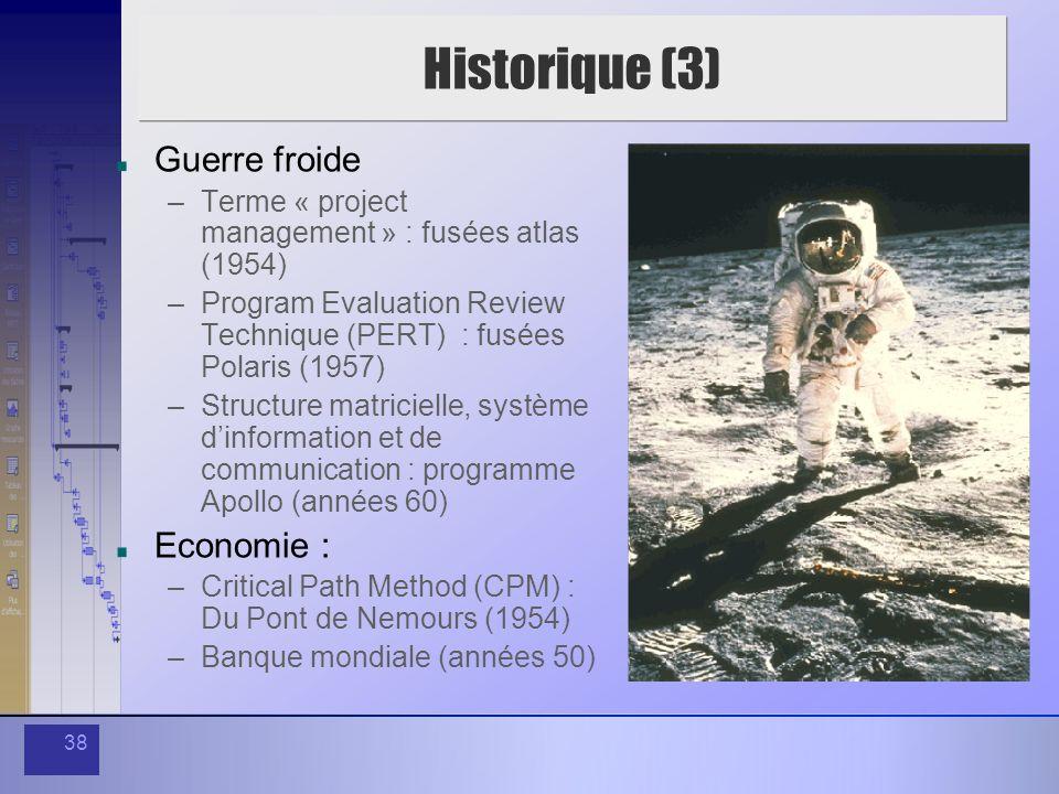 Historique (3) Guerre froide Economie :
