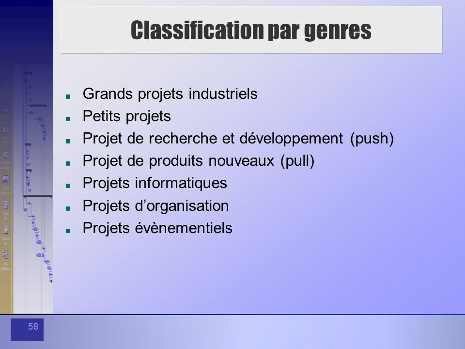 Classification par genres
