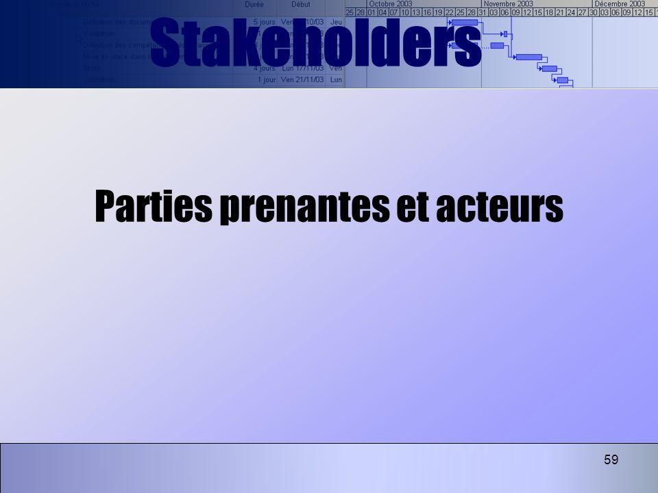 Parties prenantes et acteurs