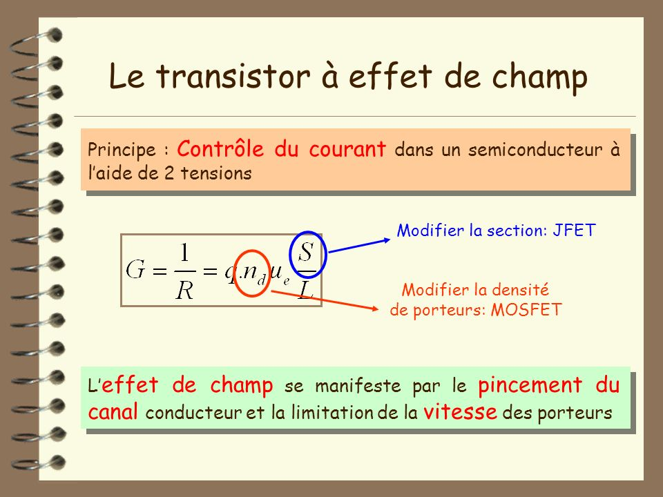 Modifier la section: JFET