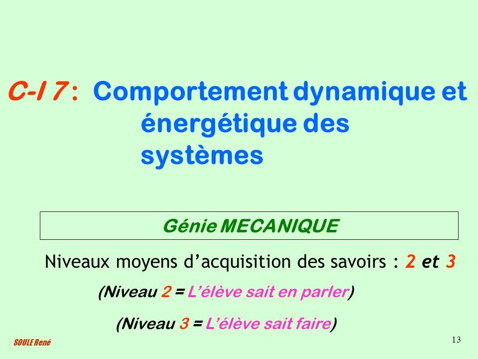 Comportement dynamique et énergétique des systèmes