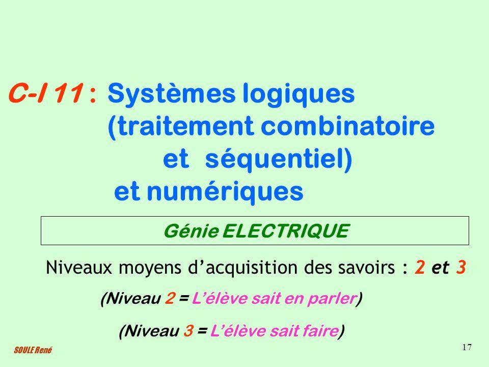 Systèmes logiques (traitement combinatoire et séquentiel)