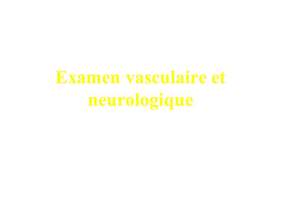 Examen vasculaire et neurologique