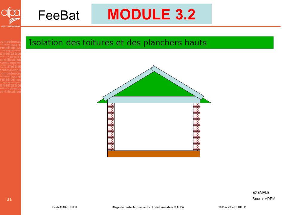 MODULE 3.2 FeeBat Isolation des toitures et des planchers hauts