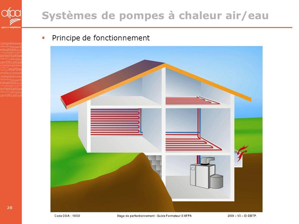 Systèmes de pompes à chaleur air/eau