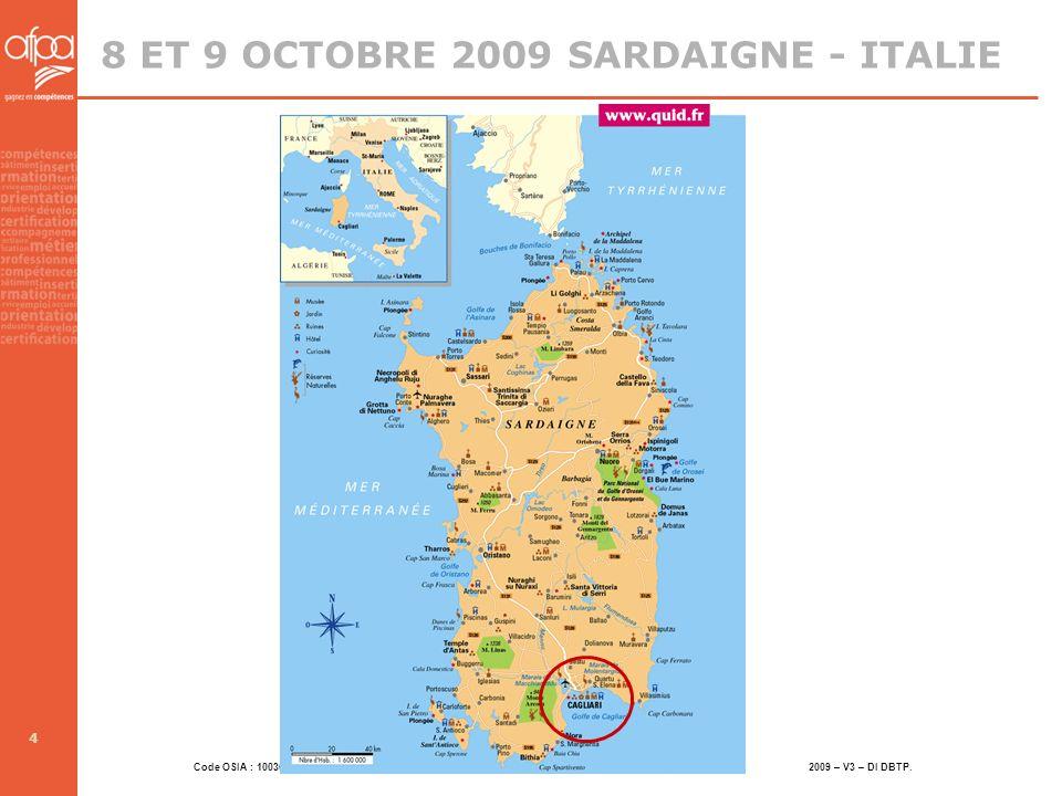 8 ET 9 OCTOBRE 2009 SARDAIGNE - ITALIE