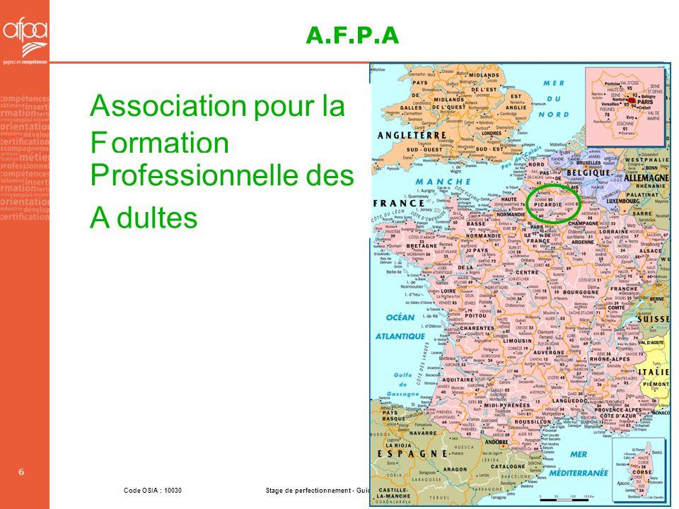 A.F.P.A A ssociation pour la F ormation P rofessionnelle des A dultes