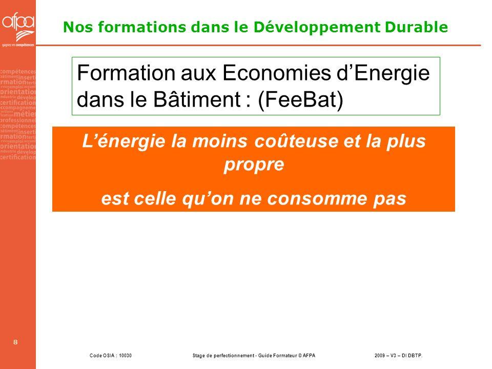 Nos formations dans le Développement Durable