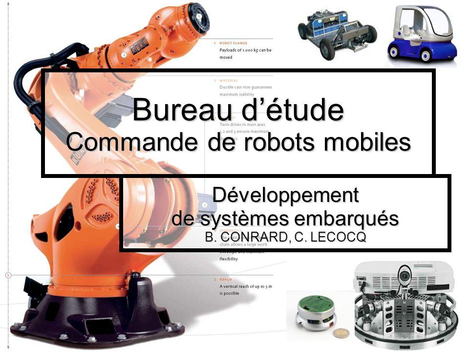 Bureau d'étude Commande de robots mobiles
