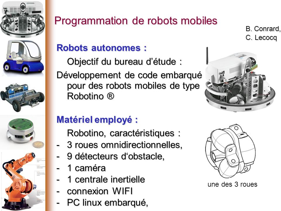 Programmation de robots mobiles