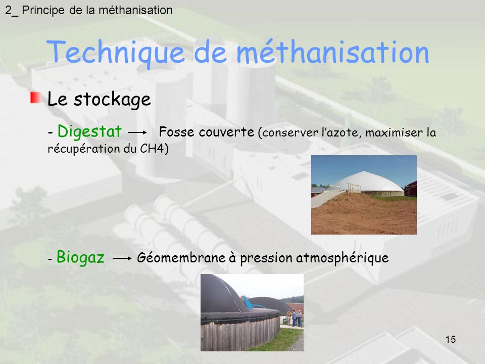Technique de méthanisation