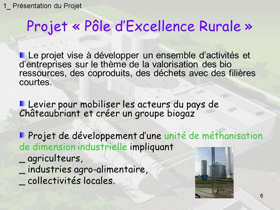 Projet « Pôle d'Excellence Rurale »