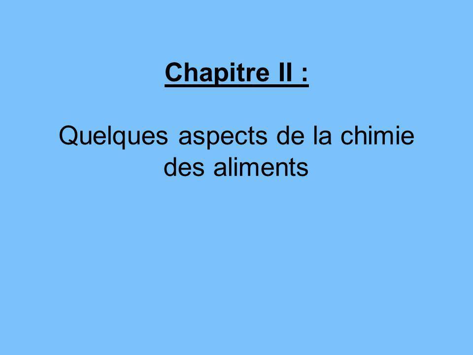 Chapitre II : Quelques aspects de la chimie des aliments